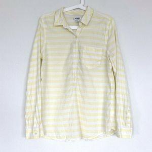 Old Navy Yellow Stripe Button Down Oxford Shirt